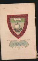 ARMS OF THE BRITISCH EMPIRE -  SOIE SUR PAPIER    8.5 X 5.5 CM    ===   BERMUDA - Cigarette Cards