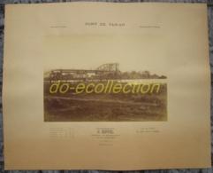 VIETNAM Grande Photographie Ancienne 1883 GUSTAVE EIFFEL Levallois Perret Construction Pont De TAN AN Photo Indochine - Photos