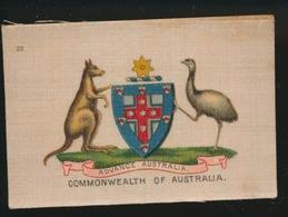 ARMS OF THE BRITISCH EMPIRE -  SOIE SUR PAPIER    8.5 X 5.5 CM    ===   COMMONWEALTH OF AUSTRALIA - Cigarette Cards