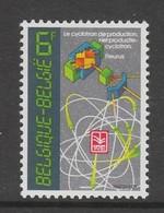 TIMBRE NEUF DE BELGIQUE - INSTITUT NATIONAL DES RADIOELEMENTS DE FLEURUS N° Y&T 2036 - Atome