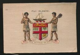 ARMS OF THE BRITISCH EMPIRE -  SOIE SUR PAPIER    8.5 X 5.5 CM    ===   FIJI ISLAND - Cigarette Cards