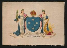 ARMS OF THE BRITISCH EMPIRE -  SOIE SUR PAPIER    8.5 X 5.5 CM    ===   VICTORIA - Cigarette Cards