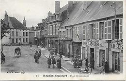MOULINS- ENGELIBERT - 1906 -  PLACE BOUCAUMONT -  COMMERCES - TABAC- COIFFEUR - Moulin Engilbert
