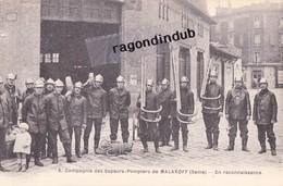 """CPA - 92 - MALAKOFF - Compagnie Des Sapeurs Pompiers De MALAKOFF (Seine) """"En Reconnaissance"""" - CARTE PEU COMMUNE - - Sapeurs-Pompiers"""