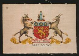 ARMS OF THE BRITISCH EMPIRE -  SOIE SUR PAPIER    8.5 X 5.5 CM    ===   CAPE COLONY - Cigarette Cards