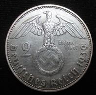 ALLEMAGNE, 2 Reichsmark Aigle Surmontant Une Swastika / Maréchal Paul Von Hindenburg, 1939 J,TTB - 2 Reichsmark