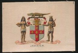 ARMS OF THE BRITISCH EMPIRE -  SOIE SUR PAPIER    8.5 X 5.5 CM    ===   JAMAICA - Cigarette Cards