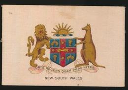 ARMS OF THE BRITISCH EMPIRE -  SOIE SUR PAPIER    8.5 X 5.5 CM    ===  NEW SOUTH WALES - Cigarette Cards