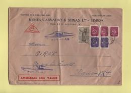 Portugal - Echantillon Sans Valeur Par Avion Pour La France - Lisbonne - Lisboa - Postmark Collection