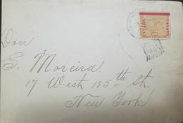 O) 1904 CIRCA - PANAMA, MAP- PANAMA INVERTED OVERPRINTED IN RED 10c SCT 79, TO USA - Panama