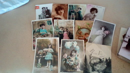 Lot De 1000 Cpa  Fantaisies , Femmes , Enfants , Bonne Année  , Fête Ect  ( Lot 1) - Postcards