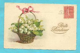 "CPA 1928 ILL.C.Klein  ""Panier De Muguet"" Ruban Rose  Porte Bonheur - Klein, Catharina"