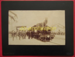 FRANCE Photographie Ancienne 1888 Gare DRAGUIGNAN Inauguration Ligne Chemin De Fer évènement Train Des Pignes Photo VAR - Photos