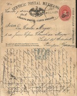 J) 1912 MEXICO, NUMERAL 3 CENTS ORANGE, MEXICAN POSTAL SERVICE, UNIVERSAL POSTAL UNION, EAGLE, CIRCULATED COVER, FROM ME - Mexico