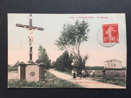 CPA Palau Del Vidre Le Calvaire (carte Pas Rectiligne Côté Droit) - France