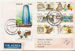 Postal History Cover: Brazil Set On Cover - Post