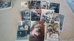 Lot De 1000 Cpa  Fantaisies , Femmes , Enfants , Bonne Année  , Fête Ect  ( Lot 2) - Postcards