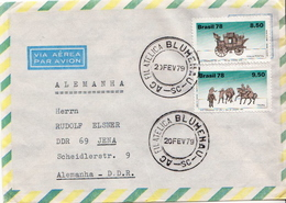 Postal History Cover: Brazil Stamps On Cover - Post