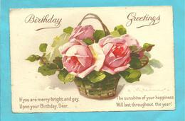 "CPA  ILL.C.Klein  ""Panier De Roses ""birthday Greetings - Klein, Catharina"