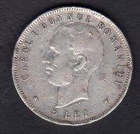 5 Lei Silver 90 % / 1906  /40 Years Carol I  / 25 G, 38 Mm - Romania