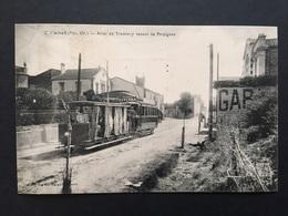 CPA Canet Arrêt Du Tramway Venant De Perpignan - Canet Plage