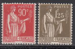 1932-33 Yvert Nº 285, 287, MH - Francia