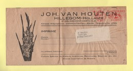 Pays Bas - EMA - Hillegom Hollande - Van Houten - Bande Tarif Imprime Destination France - Theme Fleurs - Marcophilie - EMA (Empreintes Machines)