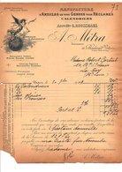 1909 FACTURE A. METRA ARTICLES POUR RECLAMES CALENDRIERS BLD VOLTAIRE à PARIS - 1900 – 1949