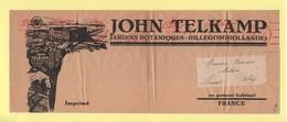 Pays Bas - EMA - Hillegom Hollande - John Telkamp - Bande Tarif Imprime Destination France - Theme Fleurs - Marcophilie - EMA (Empreintes Machines)