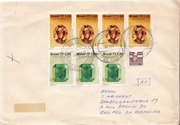 Postal History Cover: Brazil Stamps On Cover - Minerals