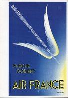 Menu Air France Ligne Paris Houston Mexico - Menus