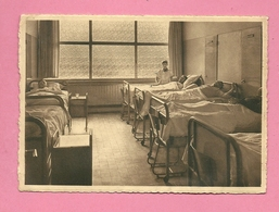 C.P. Baudour  = Féd. Des  Mutualités Socialistes Du  Borinage : Clinique Louis Caty : Une  Grande Salle  Malades Hommes - Tramways