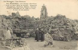 - Morbihan -ref-D717- Ploërmel Près Auray - Grotte N D De Lourdes -monument Mégalithique - Druidique - Menhirs - Dolmens - Ploërmel