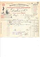 1909 FACTURE DUBOC & Cie BUSTES ET MANNEQUINS RUE LEGENDRE à PARIS - France