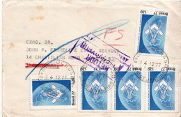 Postal History Cover: Brazil Stamps On Cover - Sciences