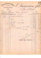 1909 FACTURE E. LACARRIERE CRAVATTES BLANCHES ET NOIRES RUE D'ABOUKIR à PARIS - France