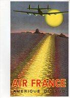 Menu Air France Ligne Mexico Houston Paris (vol Sur Boeing 747 Jet Intercontinental) - Menus