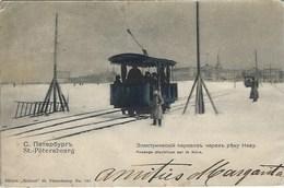 Saint Petersbourg Санкт-Петербу́рг Léningrad Tramway électrique Sur La Neva - Russia