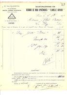 """1909 FACTURE PAUL FALKENSTEIN """"DESSOUS DE BRAS HYGIENIQUES"""" à ROUEN - France"""