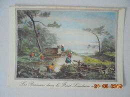 Vieille Gravure De 1800. Le Travail Des Resiniers Dans La Foret Landaise. Elce N6412 - France