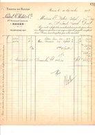 1909 FACTURE LOUTREL, MOLLET & Cie TISSUS DE ROUEN - France