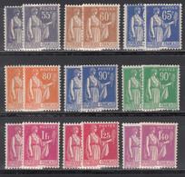 1932-33 Yvert Nº 363, 364, 365, 366, 367, 368, 369, 370, 371,  MNH - Francia