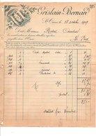 1909 FACTURE GRISLAIN-BERNARD LINGERIES NOUVEAUTES à SAINT OMER PAS DE CALAIS - France