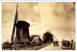 ALKMAAR-Koedijk (N.H.) - Molen/moulin - De Sluismolen Met Oldtimers Ca. 1920. Kaart In Kader Van De Herbouwactie 2001 - Alkmaar
