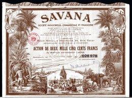 SAVANA - Industrielle, Commerciale Et Financière - Textile