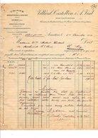 1909 FACTURE VILLARD, CASTELBON & VIAL MANUFACTURIERS à ARMENTIERES NORD - France