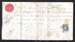 BELGIE OBP 31 Op Kwitantie BRUXELLES 1882 - 1869-1883 Léopold II