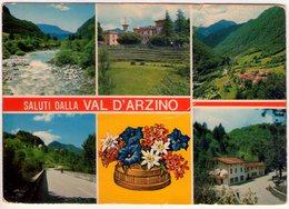 Saluti Dalla Val D'Arzino. Trattoria Lorenzini. VGB. - Pordenone