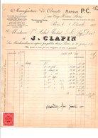 1909 FACTURE J. CLAPIN MANUFACTURE DE CORSETS RUE COQ-HERON à PARIS - France