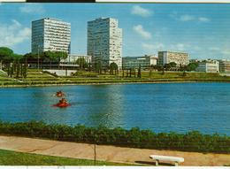 Roma EUR - Il Lago - COLORI -ANIMATA-VIAGGIATA 1966 - TIMBRO POSTE ROMA - Mostre, Esposizioni